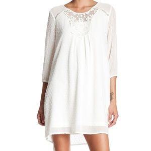 DR2 by Daniel Rainn Clip Dot Lace Dress
